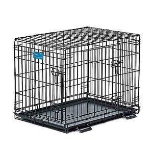 """36"""" DOUBLE DOOR LIFE STAGES DOG CRATE - LIKE NEW"""