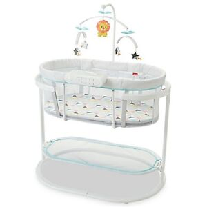 Fischer Price Soothing Baby Bassinet Windmill Crib