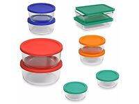 Pyrex Storage Plus 20-Piece Container Set with Color Lids