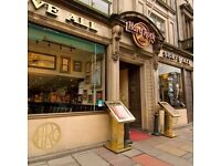 Hard Rock Cafe Edinburgh Line Chefs