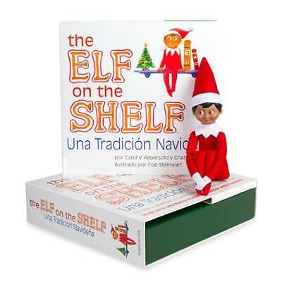 NEW The Elf on the Shelf Book and Elf A Christmas Tradition Boy Dark