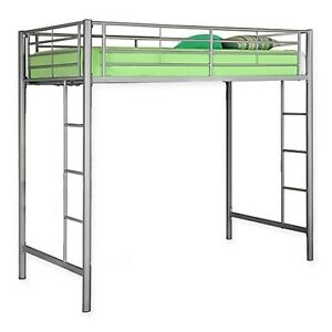 Forest Gate Twin Loft Bed in Silver NEW