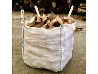 Seasoned Hardwood logs sold in 1 tonne dumpy bags. £65 per bag. Free local delivery.