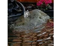 Pond fountain large bolder