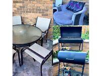 Job lot - Garden sets, BBQ, Corner Sofa, Dinning Table