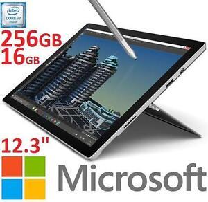 "NEW OB MICROSOFT SURFACE PRO 4 - 126573153 - 12.3"" 256GB Windows 10 Tablet With Intel Core i7-6650U  16GB RAM PC COMP..."