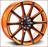 Roues (Mags) RTX Blaze Orange & noir 16 pouces 5-100 / 5-114.3