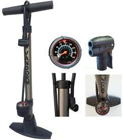 Vandorm bike pump with gauge
