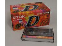 TDK D60 Cassette Tapes Type 1