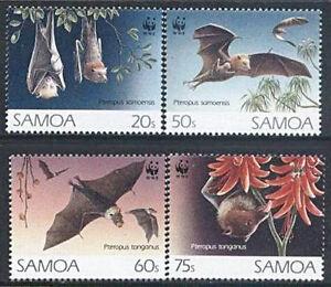 Samoa 1993 Mi 754-57 ** WWF Animals Tiere Zwierzęta Flughunde Bat Nietoperz - Dabrowa, Polska - Samoa 1993 Mi 754-57 ** WWF Animals Tiere Zwierzęta Flughunde Bat Nietoperz - Dabrowa, Polska