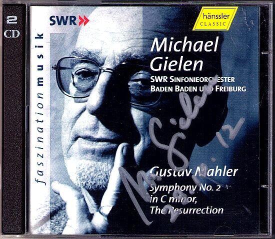 Michael GIELEN Signed MAHLER Symphony No.2 KURTAG Stele SCHOENBERG Kol Nidre 2CD