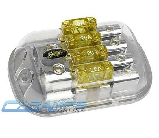 STINGER SPD5625 4G TO 8G 4 POSITION MAXI FUSE INLINE POWER DISTRIBUTION BLOCK