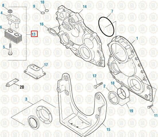 Front Engine Mount Kit for Mack CH. PAI # 803977 Ref