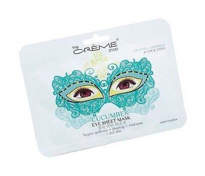 The Creme Shop Cucumber Masquerade Eye Sheet Mask Targets Puffy Tired Eyes New