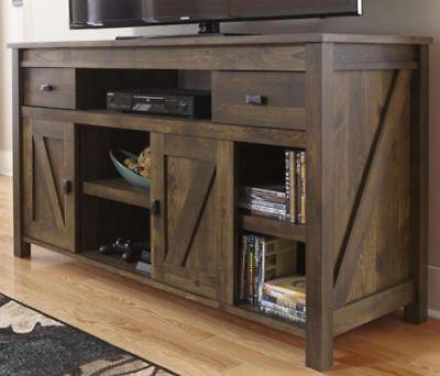 Rustic TV Stand Smart 4K Entertainment Center Farmhouse 55 60 Inch Barn Door New ()
