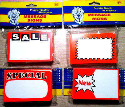 Assorted Lot Of 200 Salespecialnew Price Signs Retail Store Pricing Tags