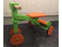 Brand New Wooden Orange & Lime Toddler Trike