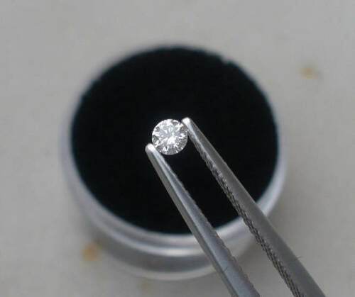 2mm White Natural Diamond Loose Faceted Round VS2 Clarity