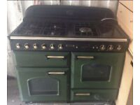 Green and Brass Leisure 110 duel fuel cooker
