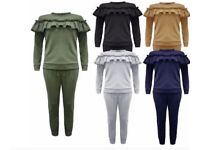 Girls frill tracksuits