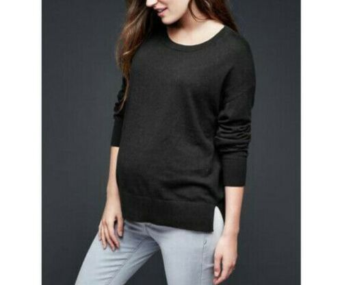 GAP Maternity Black Brooklyn Pullover Long Sleeve Sweater Top Medium NWT Nice
