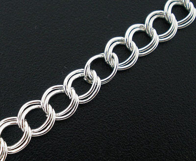400cm Silver Plated Double Loops Link Chains 5x6mm SP0076