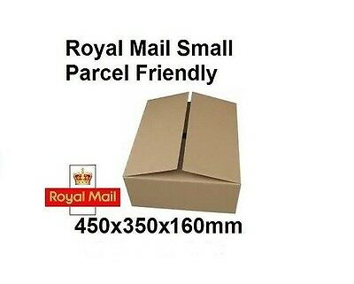 10 x Strong ROYAL MAIL Max SMALL PARCEL PIP Size Cardboard Boxes 450x350x160mm