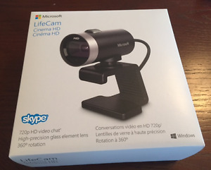 Microsoft LifeCam Cinema 720p HD Webcam - Black NewINBOX