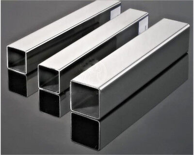 304 Stainless Steel Square Tube Length 500mm Wall 1mm Dia1010-5050mm Us