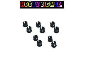 10-x-Black-Plastic-LED-display-holder-bezels-for-5mm-LEDs-lighting