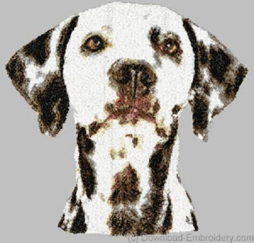 Large Embroidered Zippered Tote - Dalmatian DLE1518