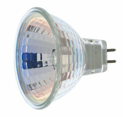 Satco S3463 1/Card 12V 50W MR16 GX5.3 Base Light Bulb FL 36 Beam Pattern No Lens