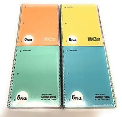 Mintra Office Spiral Notebooks Pastel - College Ruled 24pk 4-6pks