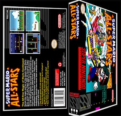 Super Mario All Stars - SNES Reproduction Art Case/Box No Game.