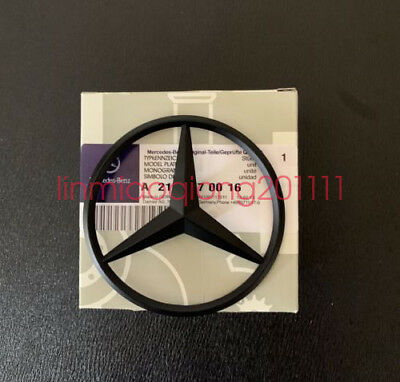 Mercedes-Benz C Class W204 Matte Black Rear Star Badge Emblem W204 AMG C Class