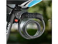 5-Digit Resettable Combination Lock Bike Security Coiling Cable