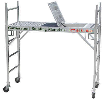 2 Set Of Aluminum Scaffold Rolling Tower W Aluminum Deck U Lock