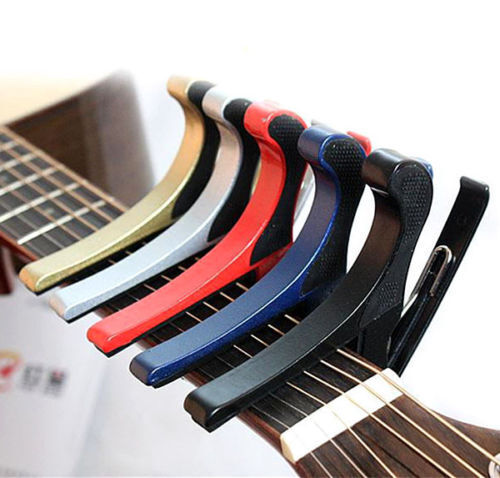 Quick Change Folk Acoustic Electric Tune Trigger Guitar Capo Key Clamp 5 Colors