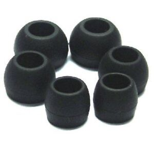 REPLACEMENT SILICONE EARPHONE TIPS EARBUDS X 12 S,M,L