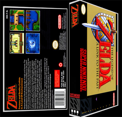 Legend of Zelda Link to the Past - SNES Reproduction Art Case/Box No Game.