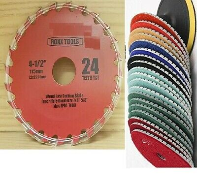 5 Diamond Granite Marble Concrete Polishing Pad 10 Wood Cutting Blade Cutter