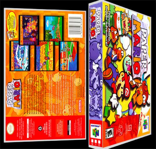 Paper Mario - N64 Reproduction Art Case/Box No Game.
