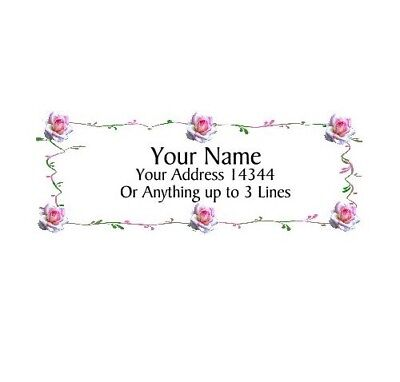 Beautiful Roses Design 9-personalized Address Labels 30pcs Free Us Shipping