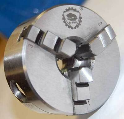 Bison-bial 2-13 3-jaw Self-centering Mini Lathe Chuck W12-20 Threaded Mount