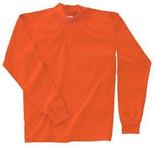 Mens hi visibility mock turtle neck shirt s 6xl tall for Big and tall mock turtleneck shirt