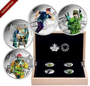 2016-Canada-National-Heroes Pure Silver 4 Coin Set