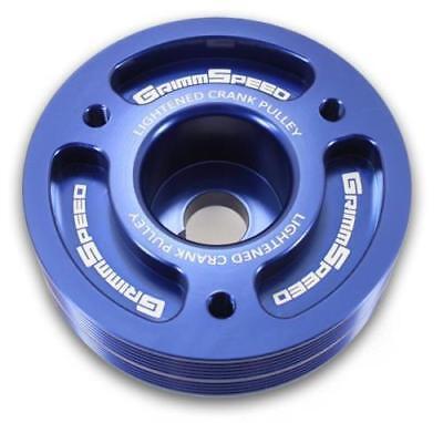 GrimmSpeed Lightweight Crank Pulley Blue for All Subaru EJ Motors  WRX  STI