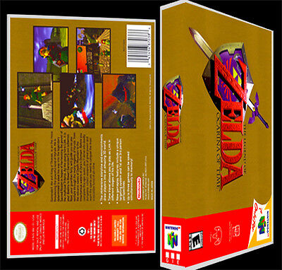 Zelda Ocarina of Time - N64 Reproduction Art Case/Box No Game.