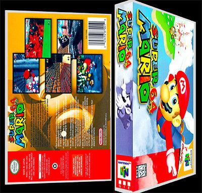 Super Mario 64 - N64 Reproduction Art Case/Box No Game.