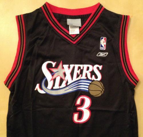 Allen Iverson Framed 11x17 2 Color Game Used Jersey ...